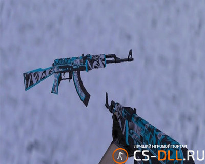 HD модель ak-47 «frontside misty» для CS 1.6