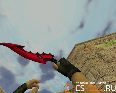 Модель ножа 666 devil knife для CS 1.6